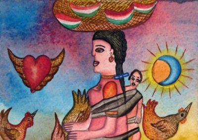 Vendedora de Sandía (Watermelon Seller) 5.5 in x 8.25 in