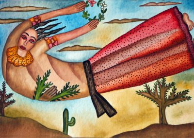 Mujer Voladora (Flying Woman) 5.5 in x 8.25 in