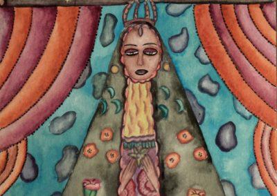 Virgen de La Soledad 5.375 in x 8.25 in