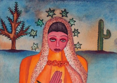 Mujer con Altar (Woman with Altar) 5.375 in x 8.25 in