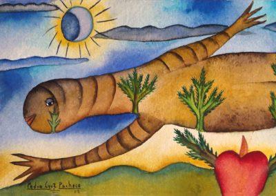 Lagartija (Lizard) 13.75 in x 5.375 in