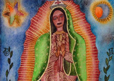 Virgen de Guadalupe 9.5 in x 13.25 in