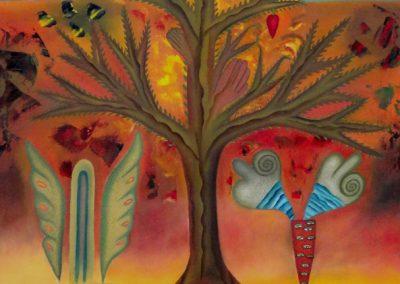 El Arbol de Dos Tiempos (Tree of Two Times) 23.5 in x 35.25 in