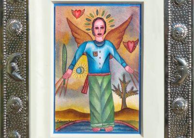 Angelito (Little Angel) 5.5 in x 8.75 in, framed size 12.5 in x 15.25 in
